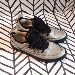 Alessandro Dell'Acqua Platform Sneakers Metallic